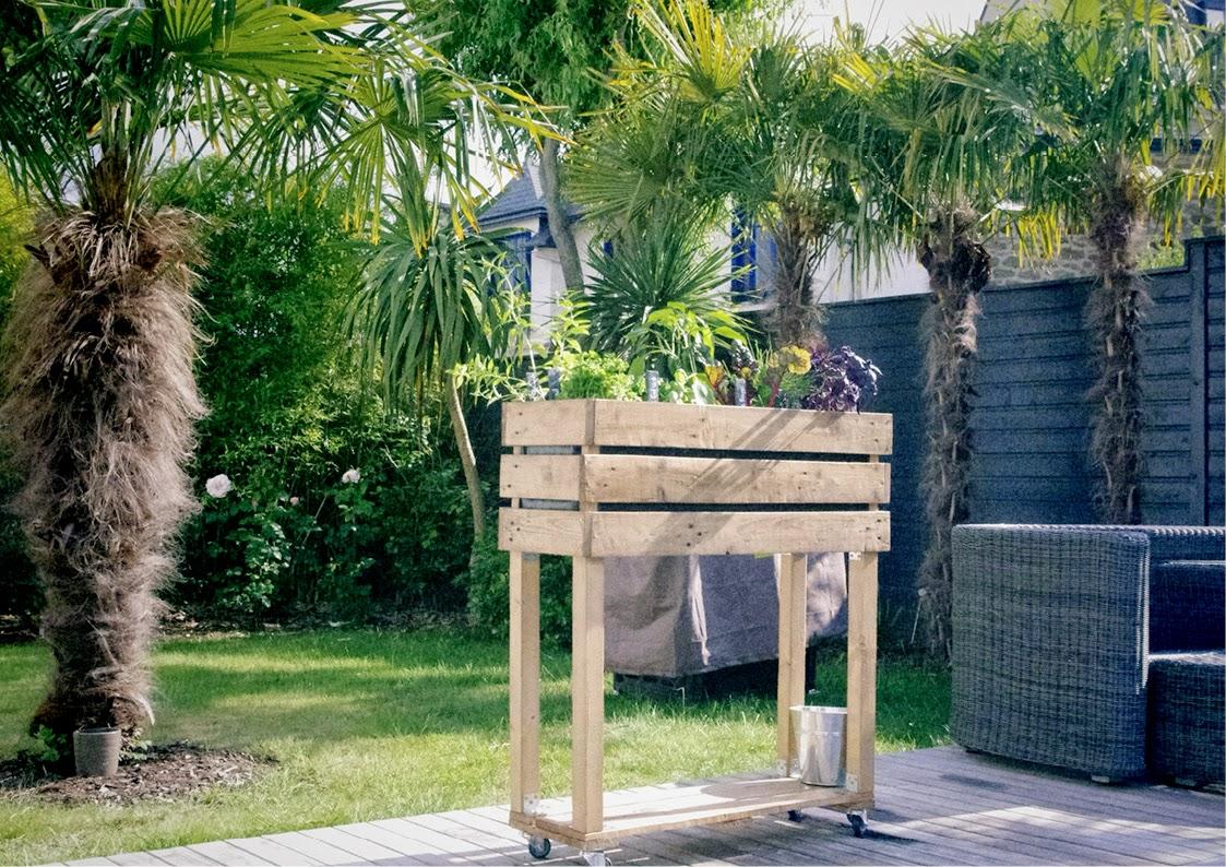 Chez Clochette  B.ponics wicking bed hors sol organique potager urbain écosysteme
