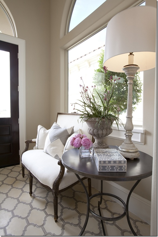 Small Foyer Settee : Fabulous foyers and entrance ways the cottage market