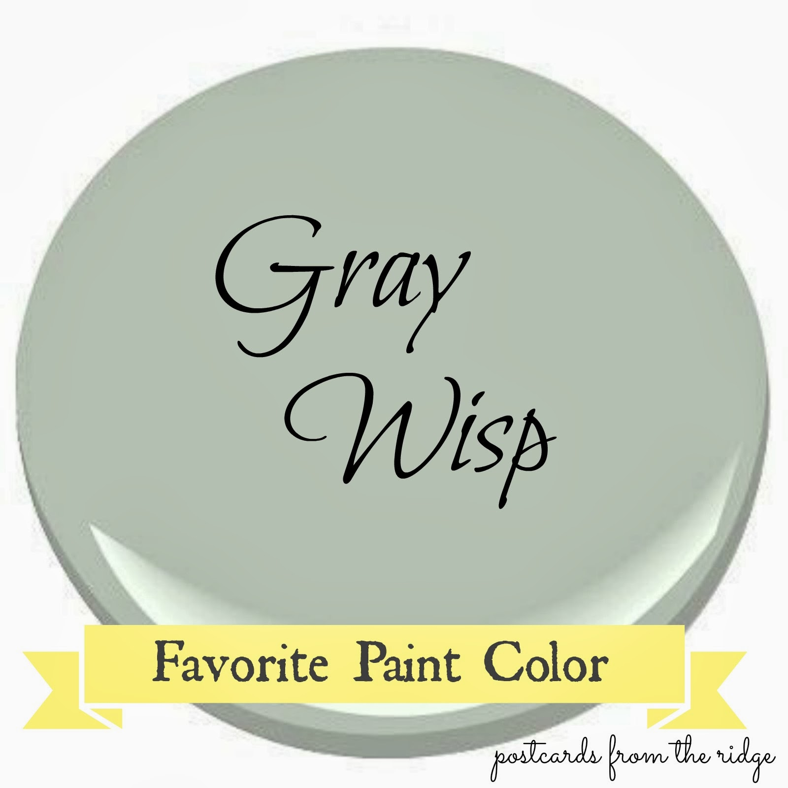 Benjamin Moore Gray Wisp Favorite Paint Color