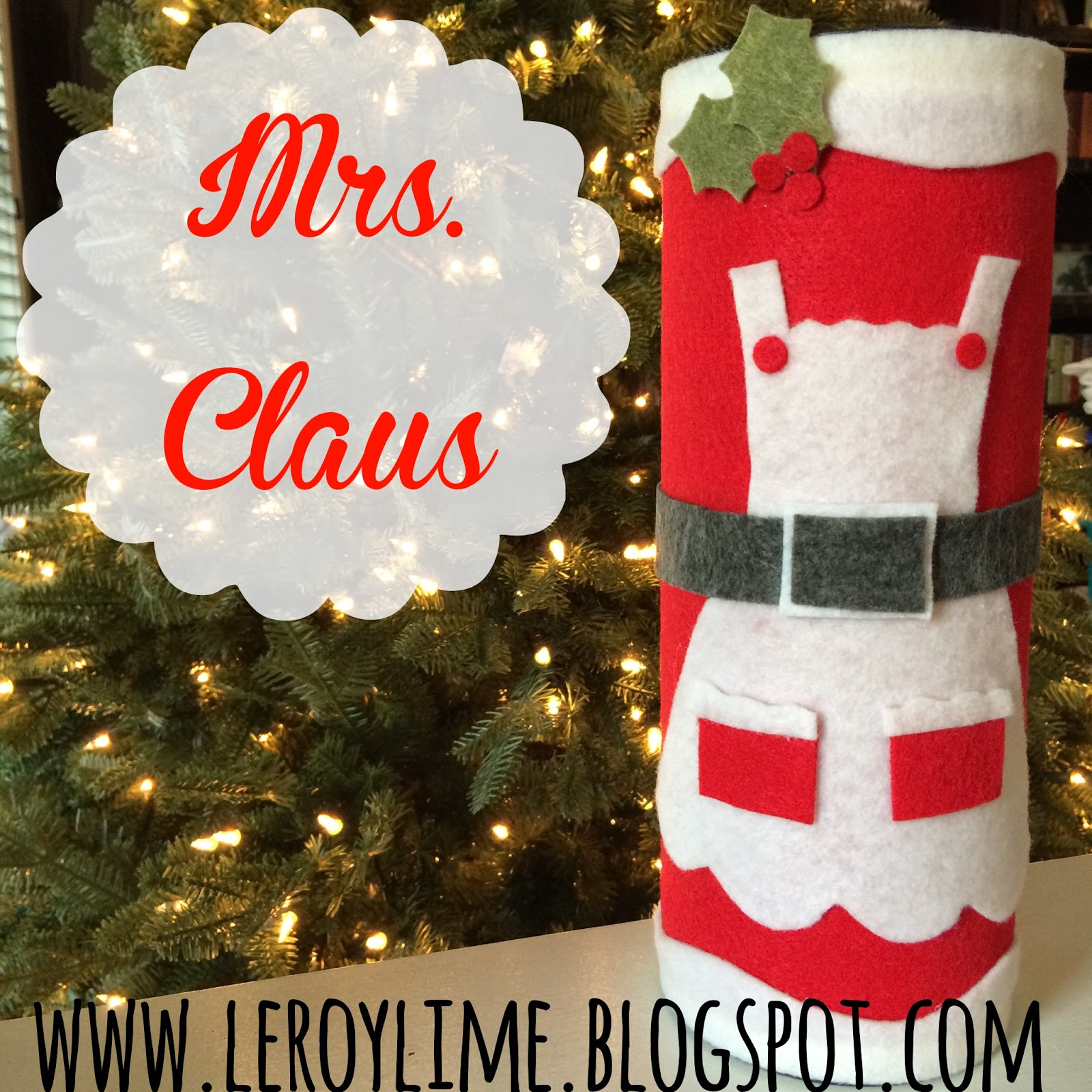 DIY Holiday Money MRS. CLAUS Bank - An Upcycle Project, Felt Craft - LeroyLime