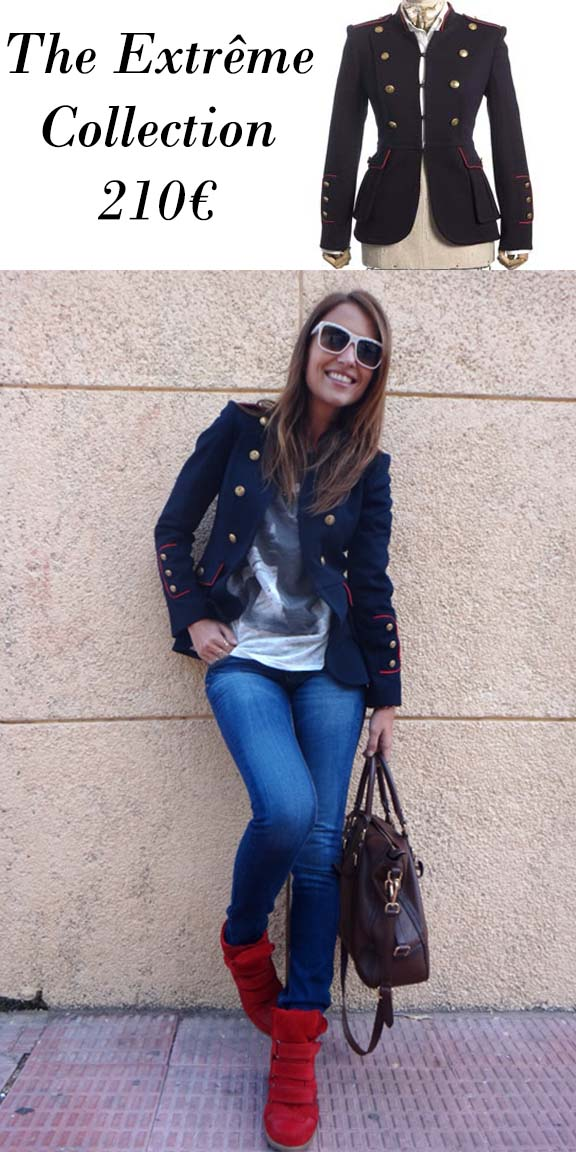 "Chaqueta militar ""The Extrême Collection"" y look con ella de Paula Echevarría"