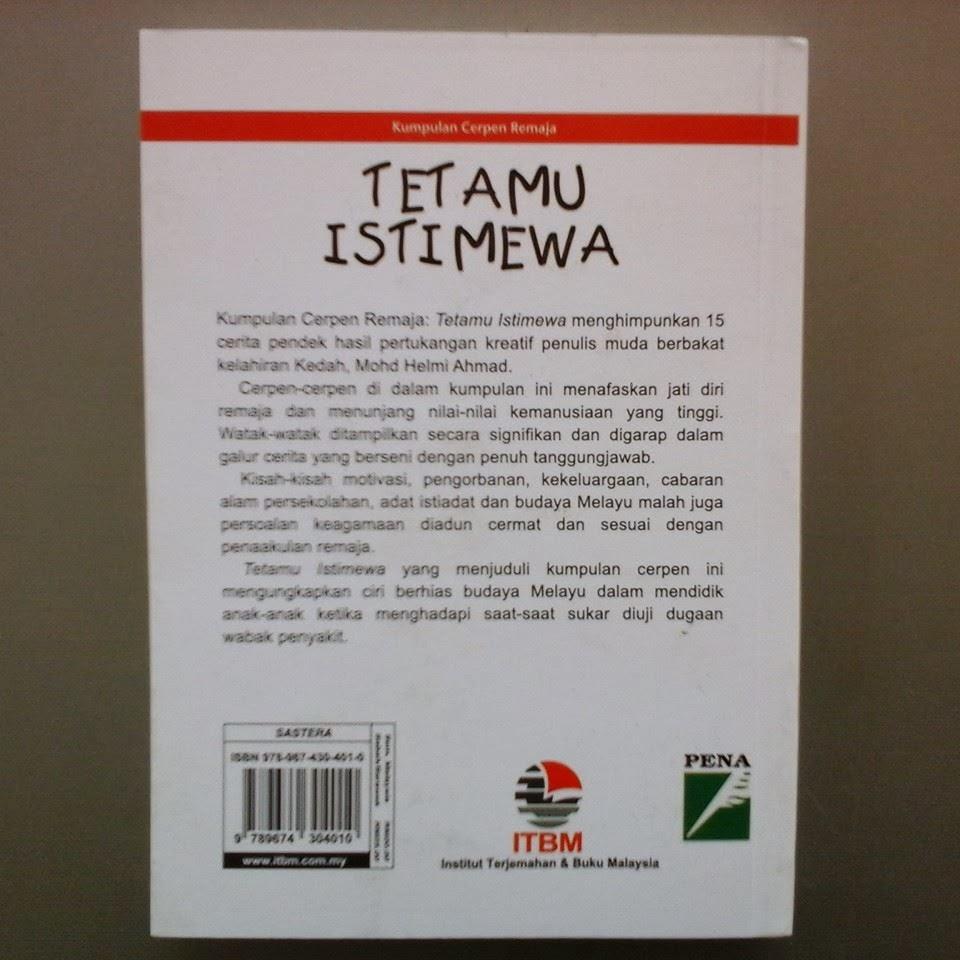 Kumpulan Cerpin Remaja Tetamu Istimewa karya penulisan Mohd Helmi Ahmad