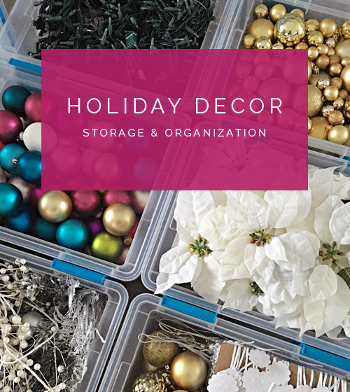 in my email and on instagram so i thought i would quickly share how i organized our christmas decorations as i was packing things up this year