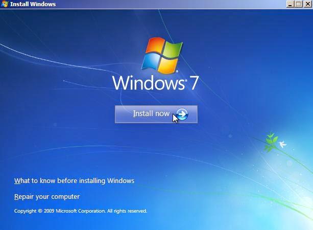 Cara Mudah Install Ulang Windows 7 Lengkap dengan Gambar