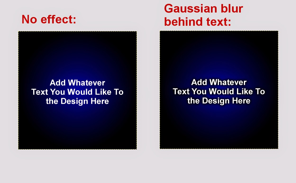 Gaussian Blur Text Effect 4