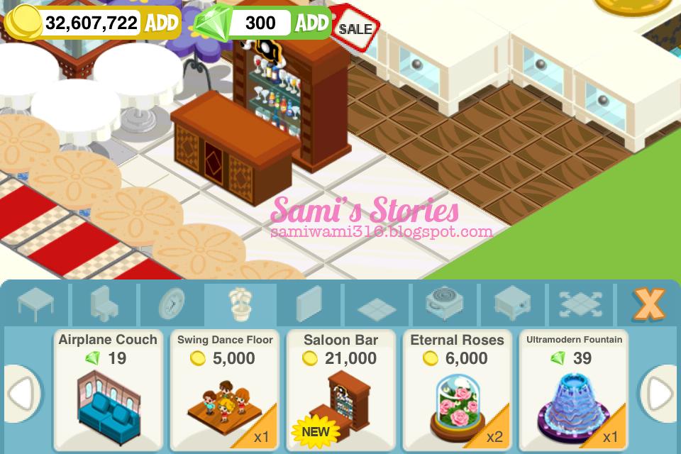 Sami 39 s stories decor unlocked saloon bar rs for Food s bar unloc