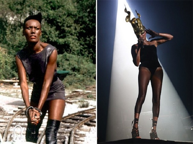 Grace Jones young and old pictures