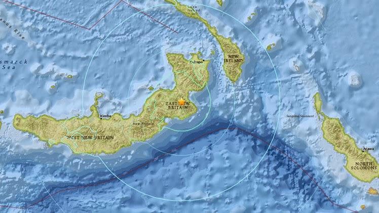 TERREMOTO DE 7,1 GRADOS PAPUA NUEVA GUINEA 1 de Mayo 2015