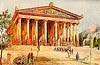 desenho do templo de Ártemis
