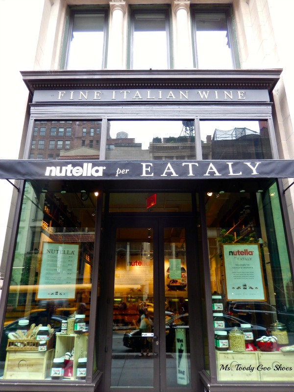 #Nutella Bar at Eataly, NYC--- Ms. Toody Goo Shoes