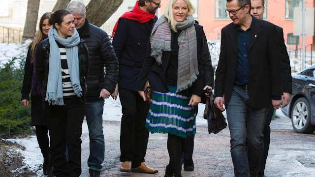Crown Princess Mette-Marit of Norway visits Batteriet