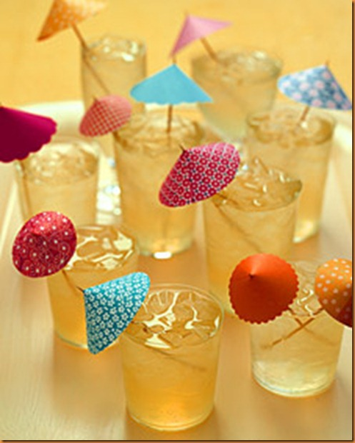 Зонтик для коктейля своими руками