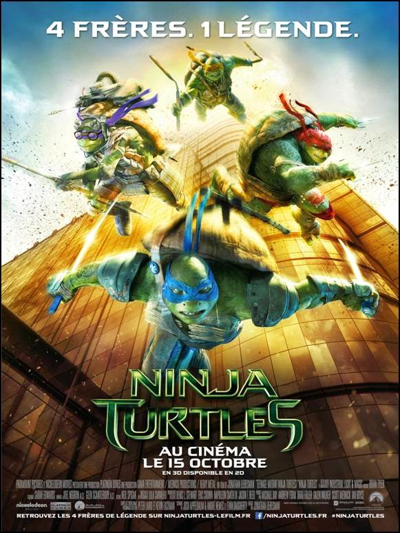 NINJA TURTLES - EXCLU - l'affiche officielle du film