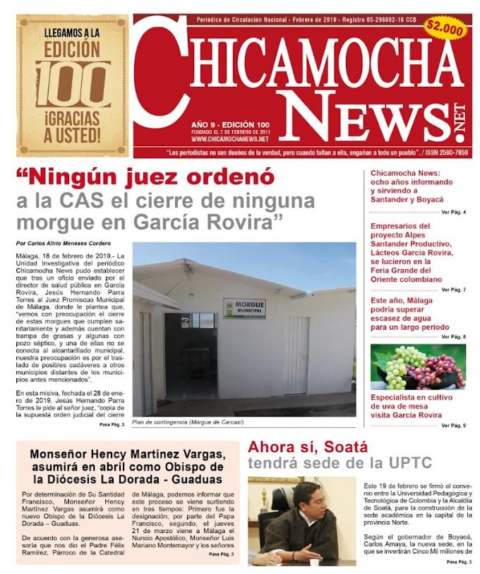 Editorial: Chicamocha News: ocho años informando y sirviendo a Santander y Boyacá