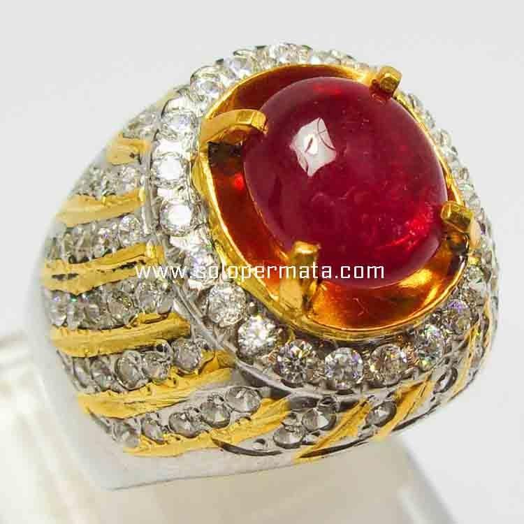 Cincin Batu Merah Delima Ruby - 14B04