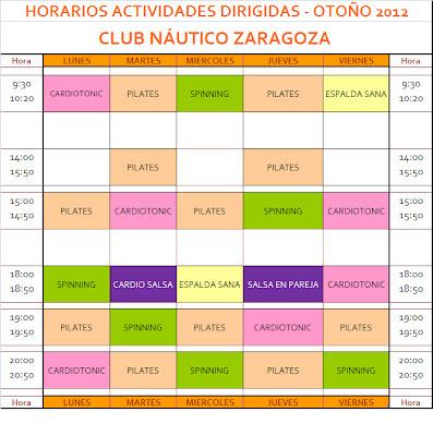 Club n utico zaragoza en oto o pilates - Club nautico zaragoza ...