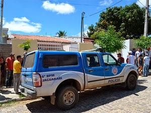 Vizinhos ouviram disparos e chamaram polícia. (Foto: João Carvalho / Portal Jaguarari)