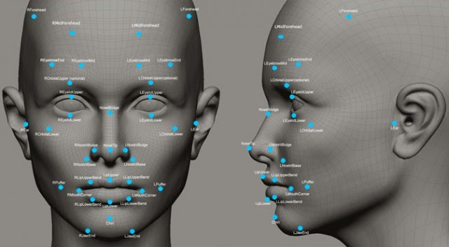 Facial recognition markers