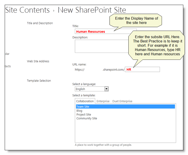 how to create sub sites in google sites