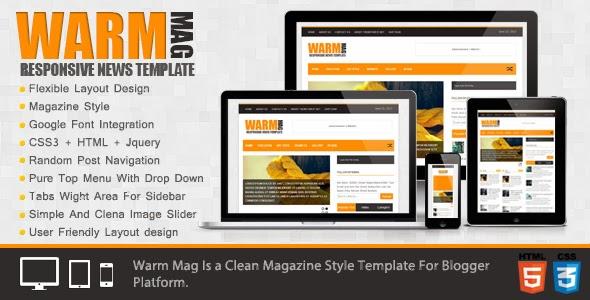 Warm Mag Template - Mẫu Blogspot chất lượng cho trang tin tức