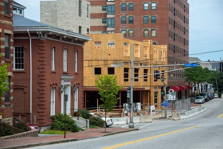 Portland, Maine July 2014 new construction building 409 Cumberland Avenue Avesta photo by Corey Templeton