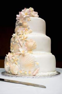 Special Beach Wedding Cakes