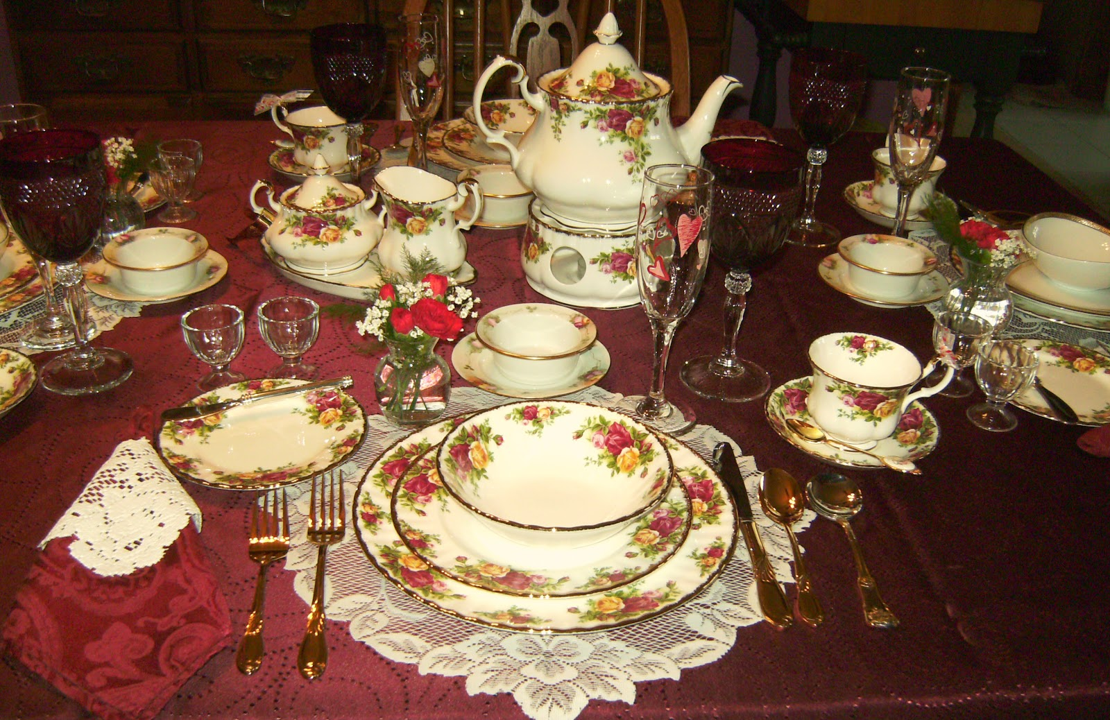 I blogged about a Valentineu0027s tea I gave for my granddaughters here where I used my Old Country Roses China. It sets a beautiful table. & Relevant Tea Leaf: Royal Albert China - Old Country Roses