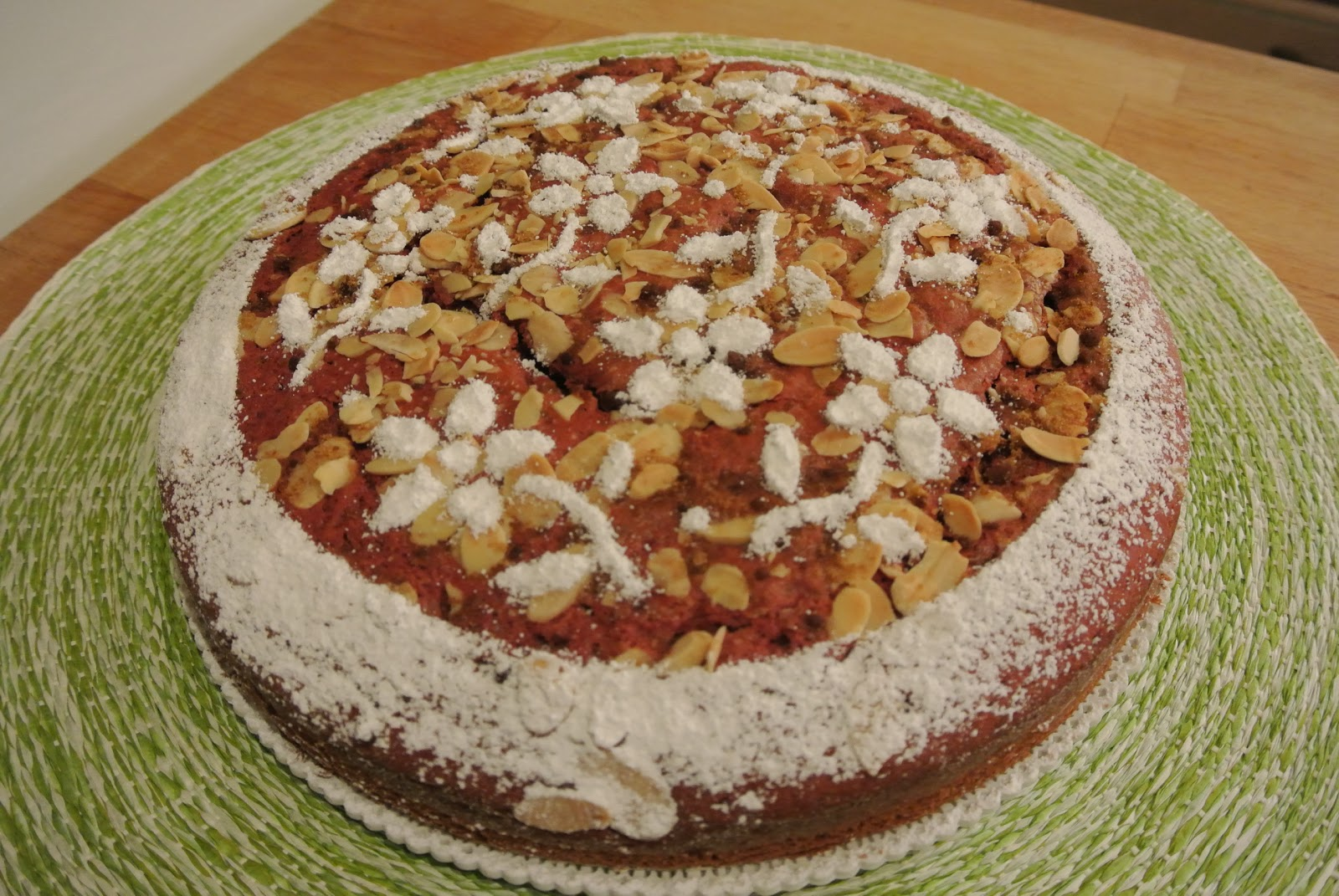 torta con barbabietole rosse