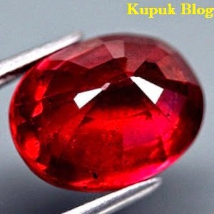 Batu Akik Permata Pigeon Blood Ruby