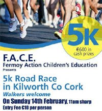 Face Charity 5k in Kilworth nr Fermoy...Sun 14th Feb 2016
