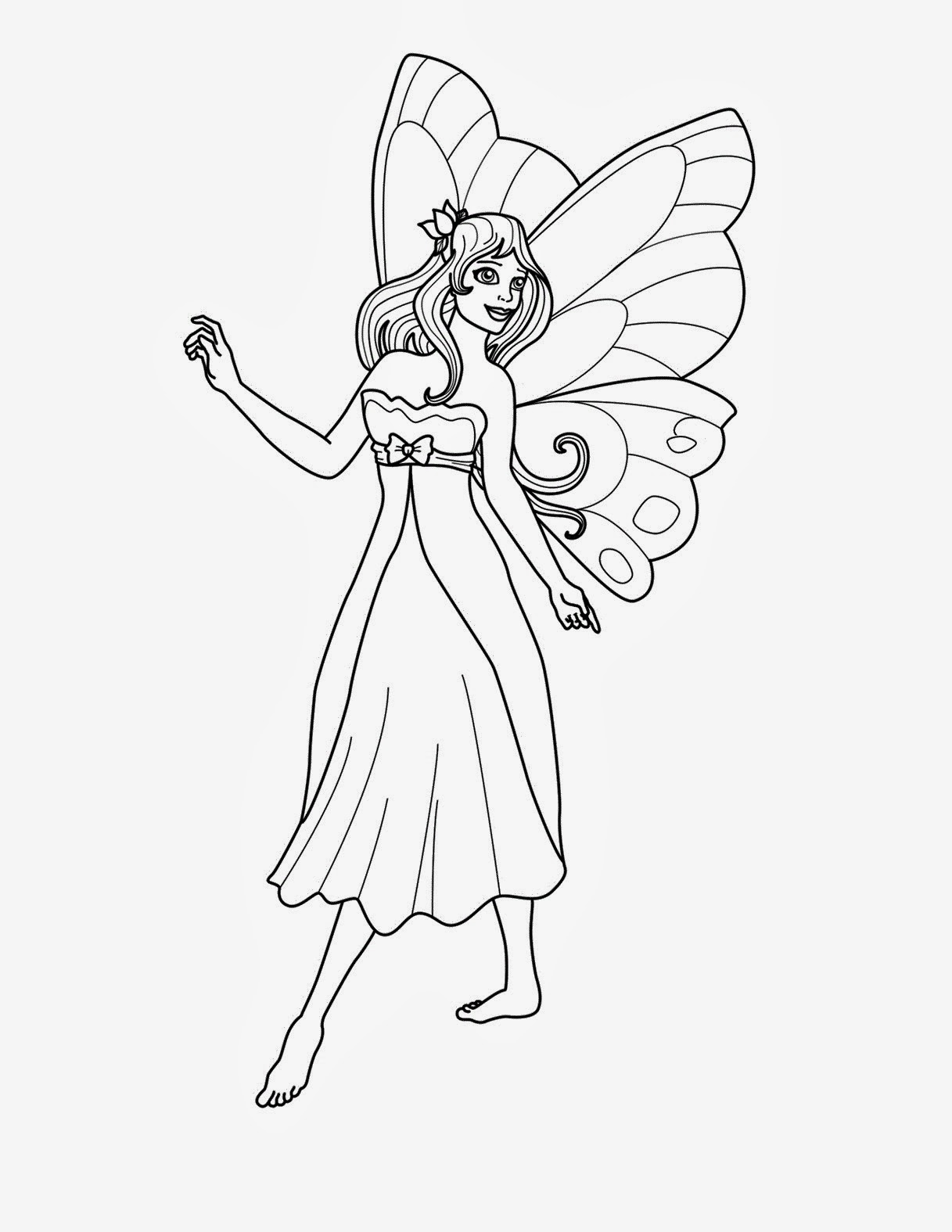 Adult coloring pages free to print fairies - Adult Coloring Pages Fairy Printable Free