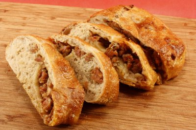 Recipes Across The Miles: Italian Sausage Stuffed Bread