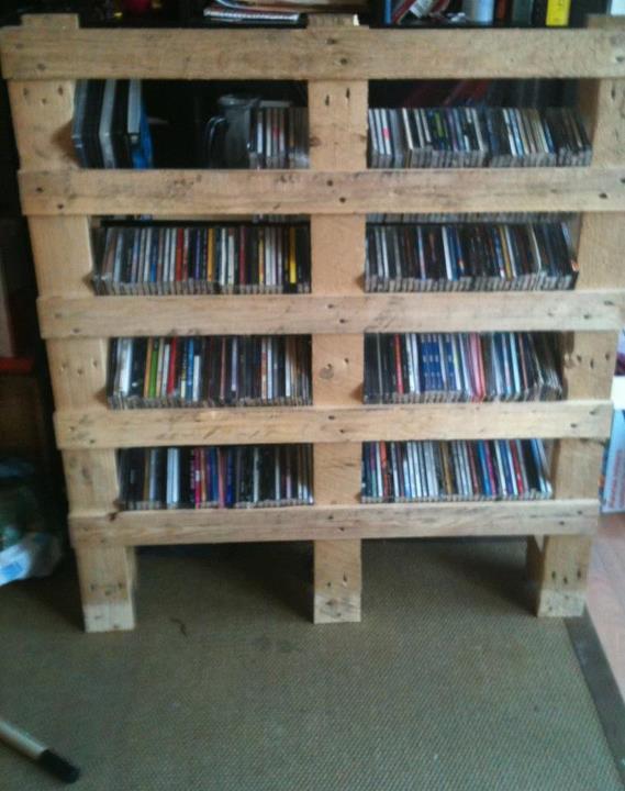 Meuble cd palette - Meuble de rangement en palette ...