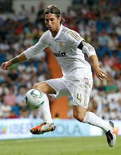 Sergio Ramos con el Real Madrid en partido oficial.