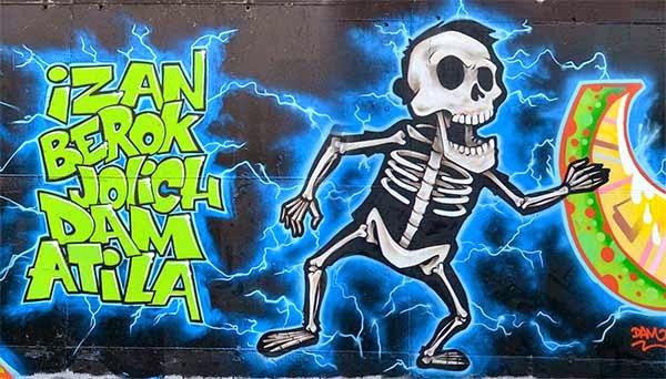 Graffiti Izan, Berok, Jolich , Dam y Atila