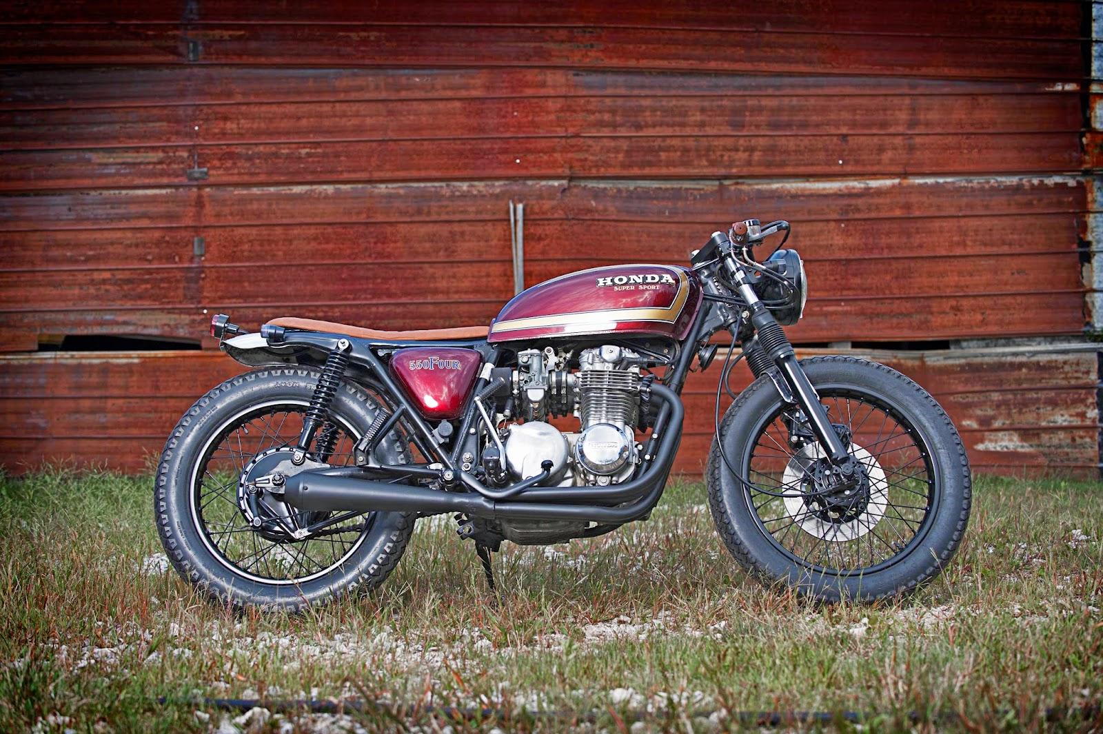 Honda CB550F Crimson Brat