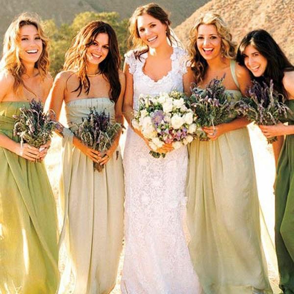 Como elegir vestidos y colores para las Damas que te asistirán en la Boda