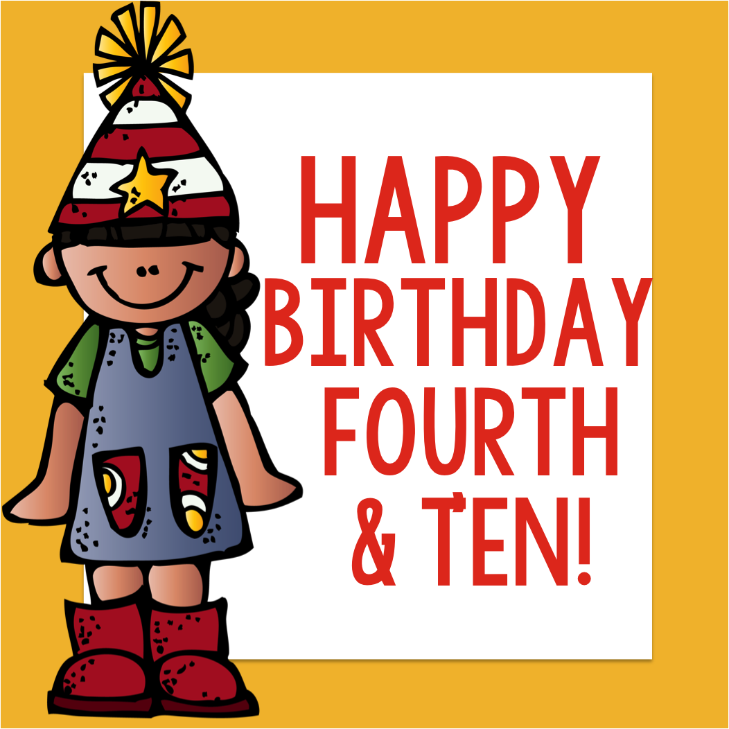 fourth and ten happy birthday fourth and ten giveaway