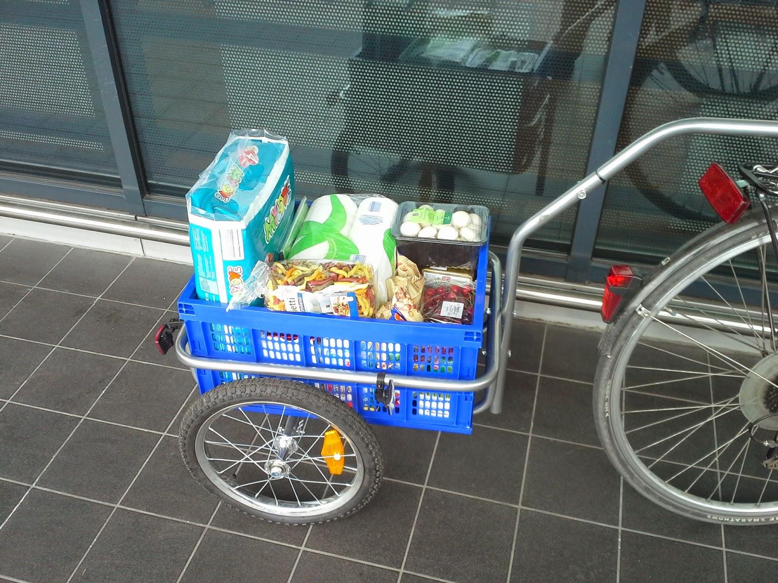 Fahrradanhänger für den Einkauf