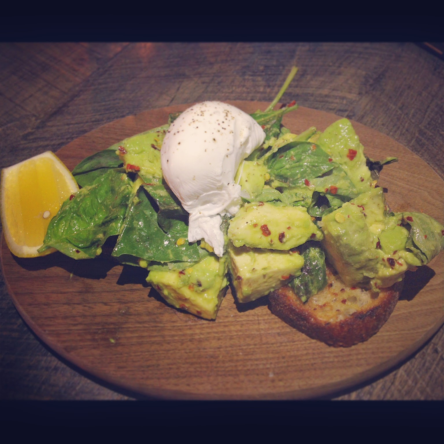 Avocado Toast at Pizza East