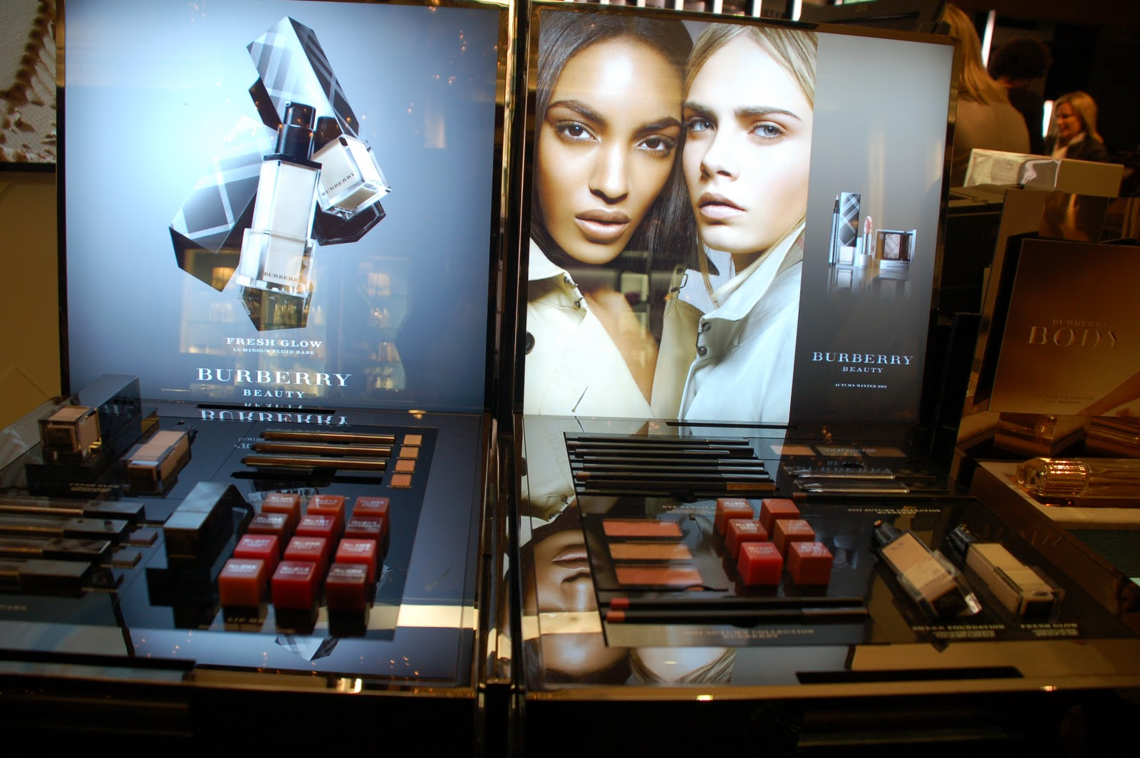 visit to the brand spanking new Burberry counter at Saks Fifth Avenue