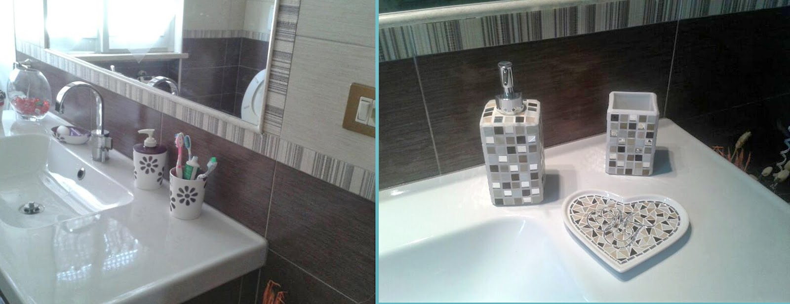 Un pezzo alla volta nuovi accessori bagno personalizzati - Bagno beige e marrone ...