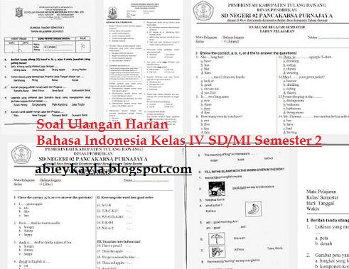 Soal Ulangan Bahasa Indonesia Kelas 4 SD/MI Semester 2/Genap Bab 9 Kesenian