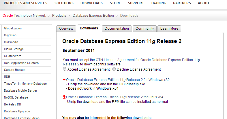 Install Oracle XE on Fedora JBoss Developer