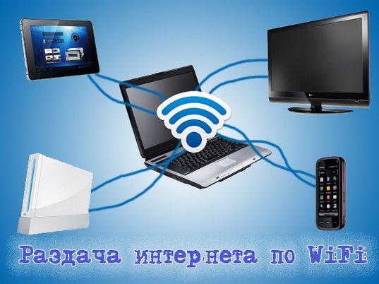 раздать интернет wifi