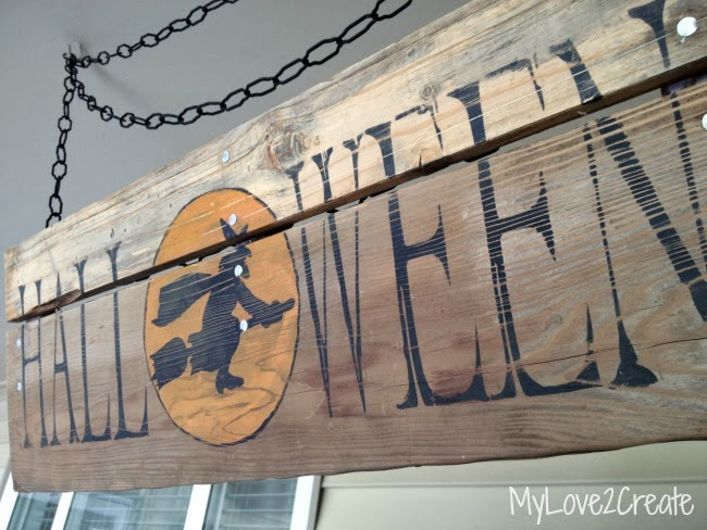 MyLove2Create, Rustic DIY Halloween Sign