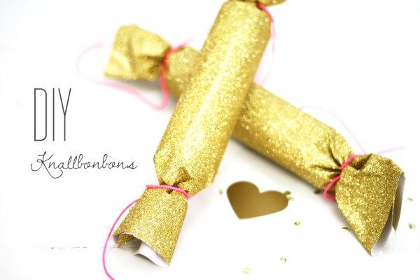 Statt Glückskekse: Selbstgebastelte Knallbonbons für Silvester