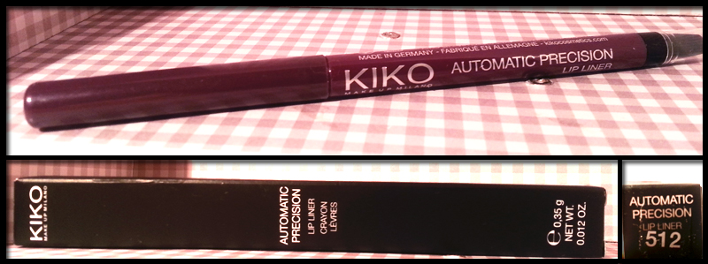Kiko Automatic Precision Lip Liner n° 512 in Viola Nero