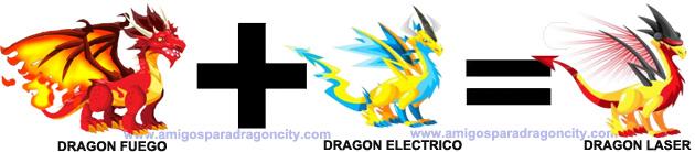 como sacar el dragon laser en dragon city combinacion 4