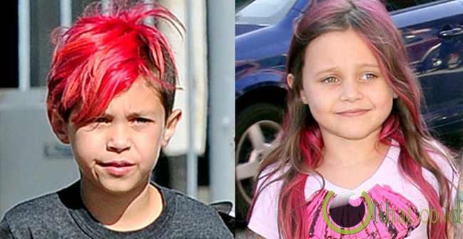 5 Anak Selebritis Hollywood dengan Rambut Berwarna